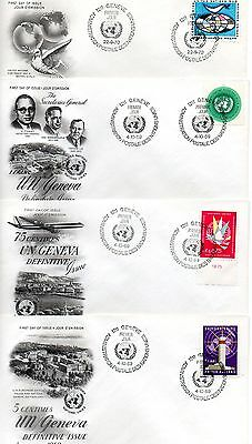 1325+ UNITED NATIONS -GENEVA - FDC /FIRST DAY ISSUE FROM 1950, 60 & 70's. A LOT