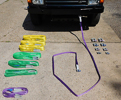 7Ton 4 Meter Strop & 9Ton Shackles Kit for 4x4 Towing/Recovery - QTY 1