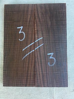 Indian rosewood bookmatched knife scale / knife handle sets