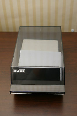 Vintage Rolodex Index Card File System VIP-24C Covered Address Business Organize