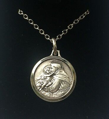 St Saint Anthony Of Padua Silver Medal Necklace Pendant - Gift Boxed