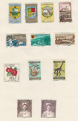 COLOMBIA 1961 Red X, etc old Album Pages (removed for Shipping)  #
