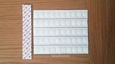 Velcro 50 HOOK ONLY Stick On Dots/Coins/Discs/Circles White 13mm Self Adhesive