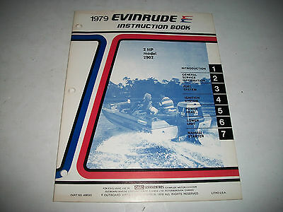 1979 Evinrude ( Johnson) 2 Hp Outboard #2902  Oem Service Shop  Manual Clean