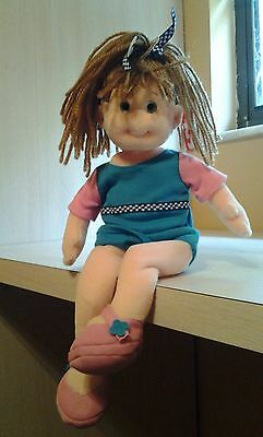 """Ty Beanie Boppers Bubbly Betty Girl Doll Plush 14"""" NWT Retired"""