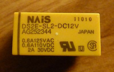 DS2E-SL2-DC12V, 2 coil latching 12VDC DPDT relays, box of 50