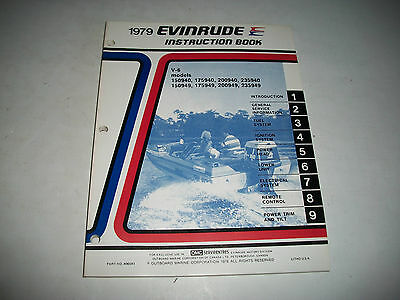 1979 Evinrude ( Johnson) V-6 Models Outboards Oem Service Shop  Manual Clean