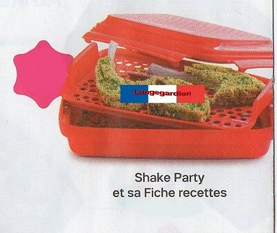 Shake Party et sa fiche recettes Tupperware NEUF