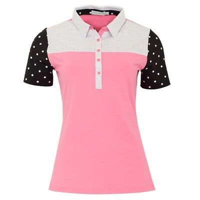 New Green Lamb Ladies Carrie Short Sleeve Polo Shirt with Stretch Golf Top