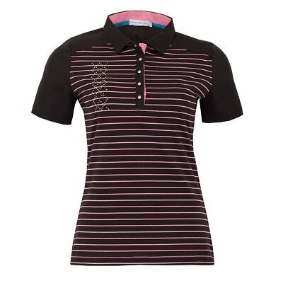 New Green Lamb Ladies Courtney Striped Polo Shirt Short Sleeve Sports Golf Top