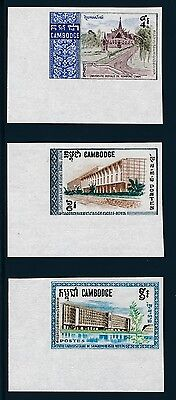 Cambodia 188-90 1968 Cambodian Universities set IMPERF VF NH