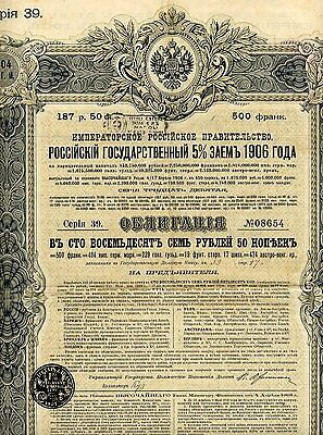 Russie / Russia / Lot : 36 X Russian 5% State - Loan Of 1906