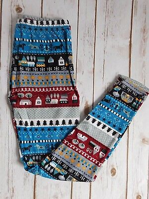 Wholesale Lot of 8 One Size Winter Holiday Leggings
