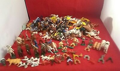 Job lot of vintage cowboy and indians. Britains, lone star, swap its and more