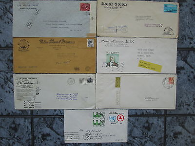 MEXICO lot 7 covers censor , slogan , gaviotas , hotel , stamps mexique