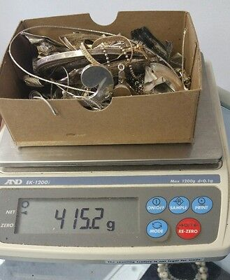 410 Grams Of Scrap Sterling Silver, Some is wearable!!
