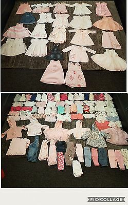 baby girls 0-3 months clothes bundle 100 items