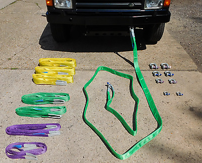 14Ton 6 Meter Strop & 19.5Ton Shackles Kit for 4x4 Towing/Recovery - QTY 1