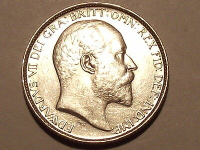 1907 Edward Vii Silver Sixpence Superb Coin With About Full Lustre High Grade