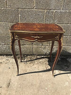 Beautiful, Antique, French Bronze Side Table, Inlaid, original
