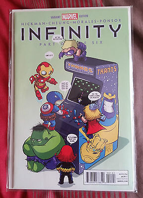 Marvel Comics: Infinity Part One (of Six) Scotty Young Variant 1st print