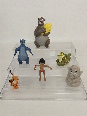 LOT of (5) Disney The Jungle Book Figures PVC Cake Toppers Mogli Baloo Kaa Hathi