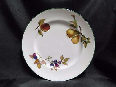 Royal Worcester Evesham Vale, England, Green Trim: Salad Plate, 8 1/4""