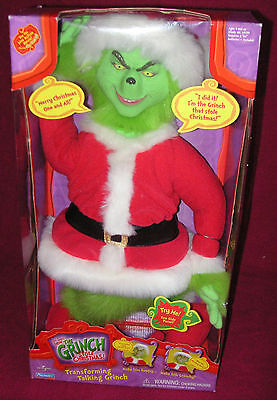 """Transforming HOW THE GRINCH STOLE CHRISTMAS 20"""" Talking Grinch - FACTORY SEALED!"""