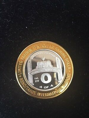 Rare 2002 $10 Gaming Token from Reno/ Tahoe Airport, Blue Case 2 for 1 exchange