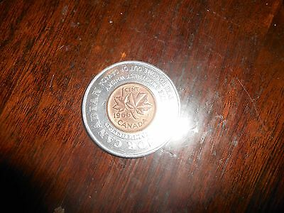 Nice Canada 1966 Encased  Small Cent  Windsor On, The Smoothest Whisky To Come