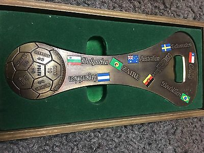 WORLD CUP Football 1974 Bottle Opener Made In West Germany