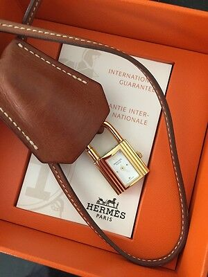 HERMES Kelly Clochette Watch + Fitted Hermes Watch Box