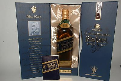WHISKY JOHNNIE WALKER BLUE LABEL RARE FINEST SCOTCH WHISKY  AÑOS 90 IN BOX 70cl.