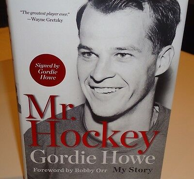 Detroit Red Wings Mr Hockey Gordie Howe My Story Book Hand Signed Autographed