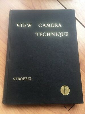 Rare First Edition View Camera Technique Leslie Stroebel Collectors Book Vintage