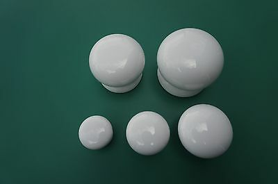 5 Sizes White Porcelain Ceramic Knob Antique Style Cabinet Knobs  Vintage Knobs