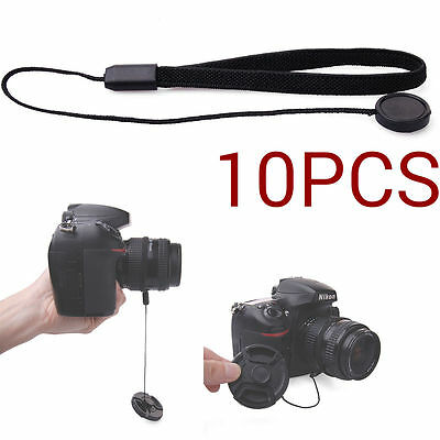 10pcs Lens Cap Keeper Holder Leash Strap para Sony DSLR Universal Camera DC534