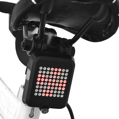 Bike Bicycle Turn Signal Light LED Rear Tail Lamp Cycling Laser Light USB CS504