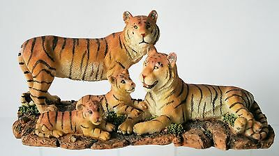 """TIGER FAMILY Figurine Statue 10"""" long NEW"""