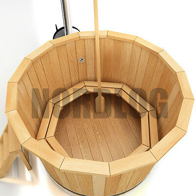 nordlog hot tub badefass mit ofen badezuber badetonne badebottich 1 5m sauna eur. Black Bedroom Furniture Sets. Home Design Ideas