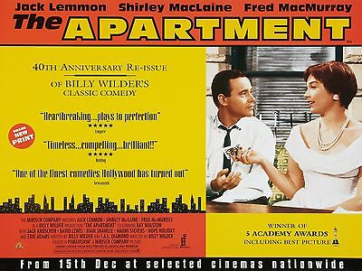 """The Apartment 16"""" x 12"""" Reproduction Movie Poster Photograph"""