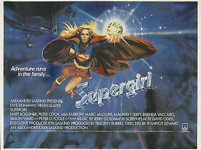 "Supergirl 16"" x 12"" Reproduction Movie Poster Photograph"