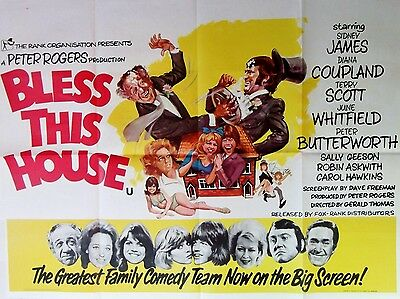 """Bless This House 1972 16"""" x 12"""" Reproduction Movie Poster Photograph"""