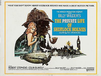 """The Private Life of Sherlock Holmes 16"""" x 12"""" Reproduction Movie Poster Photo"""