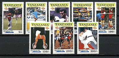 Tanzania Stamps, Serie, The Olympic - Barcelona 1992, (8)