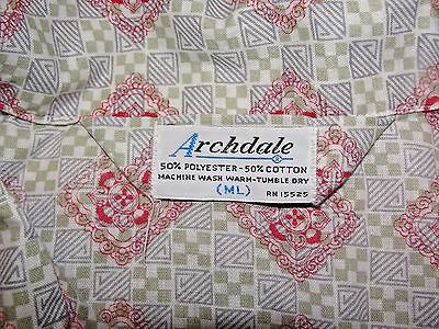 "True Vintage~ Archdale Piped Two Piece Pajama Set ML Long Men's PJ 1970's ""Mint"""