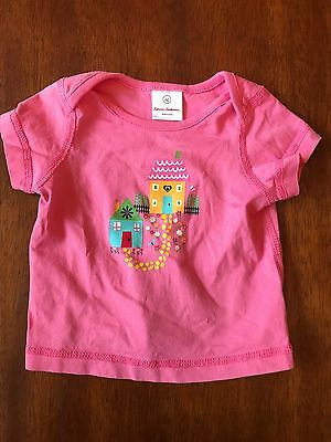 Hanna Andersson Infant Girls Pink Short Sleeve T-Shirt 60 cm 6-9 Months