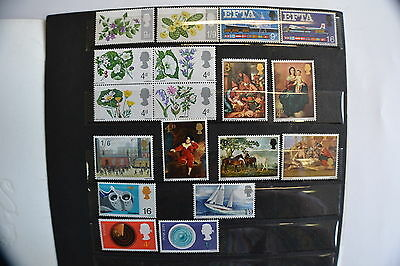 Great Britain 1967 All Special Issues Document Ivert 463/70 491/501