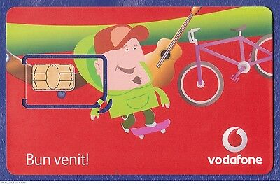 Vodafone Romania EUROPE 4G SIM Card + Data. NEW