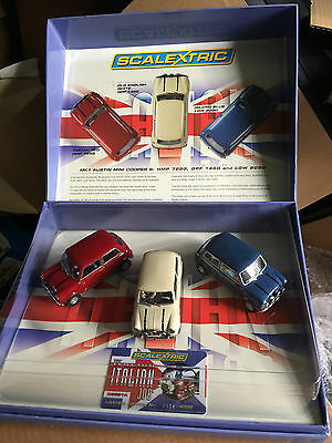 The Italian Job Scalextric Ltd Edition Three Car Set. C2921A